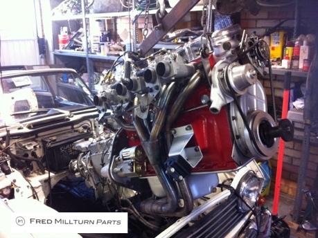 TR5 engine installation